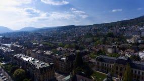 Υψηλή πόλη άποψης του Neuchatel στοκ εικόνες με δικαίωμα ελεύθερης χρήσης