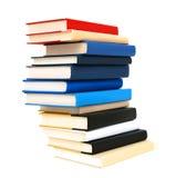 Υψηλή στοίβα βιβλίων που απομονώνεται Στοκ Εικόνες