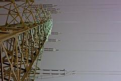 υψηλή τάση ισχύος γραμμών Στοκ Εικόνα