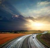 υψηλή ταχύτητα εθνικών οδών Στοκ φωτογραφίες με δικαίωμα ελεύθερης χρήσης