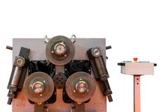 Υψηλή τεχνολογία και ημι αυτόματη κάμπτοντας μηχανή σωλήνων ή σωλήνων ακρίβειας για βιομηχανικό που απομονώνεται στο άσπρο υπόβαθ στοκ φωτογραφία με δικαίωμα ελεύθερης χρήσης