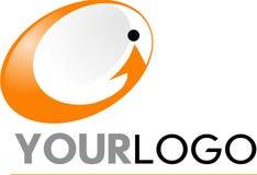 Υψηλή τεχνολογία και λογότυπο επικοινωνιών Στοκ εικόνες με δικαίωμα ελεύθερης χρήσης