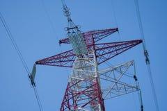 Υψηλή υποστήριξη της υψηλής τάσεως γραμμής 750 kV Στοκ εικόνα με δικαίωμα ελεύθερης χρήσης