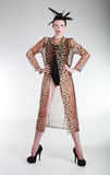 υψηλή όμορφη γυναίκα μόδας έννοιας εκδοτική Στοκ Φωτογραφία