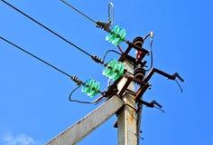 υψηλή pylon τάση ηλεκτρικής ενέργειας Στοκ Φωτογραφία
