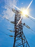 υψηλή pylon τάση ηλεκτρικής ενέργειας Στοκ φωτογραφίες με δικαίωμα ελεύθερης χρήσης