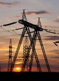 υψηλή pylon τάση ηλεκτρικής ενέ Στοκ εικόνα με δικαίωμα ελεύθερης χρήσης