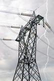 υψηλή pylon τάση Στοκ Εικόνες
