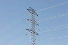 υψηλή pylon τάση Στοκ Φωτογραφίες