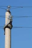 υψηλή pylon τάση Στοκ Φωτογραφία