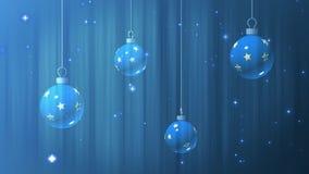 Υψηλός καθορισμός υποβάθρων κινήσεων - σφαίρες Χριστουγέννων διανυσματική απεικόνιση