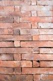 υψηλός παλαιός τοίχος σύστασης ποιοτικής κόκκινος διάλυσης φωτογραφιών τούβλου ανασκόπησης Στοκ Φωτογραφία