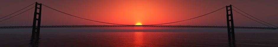 υψηλό ηλιοβασίλεμα θάλασσας διάλυσης jpg πανόραμα στοκ φωτογραφία με δικαίωμα ελεύθερης χρήσης