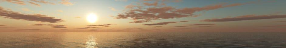 υψηλό ηλιοβασίλεμα θάλασσας διάλυσης jpg πανόραμα στοκ εικόνες