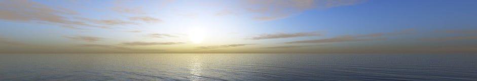 υψηλό ηλιοβασίλεμα θάλασσας διάλυσης jpg πανόραμα στοκ φωτογραφίες