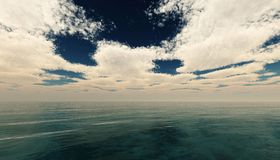 υψηλό ηλιοβασίλεμα θάλασσας διάλυσης jpg πανόραμα στοκ φωτογραφίες με δικαίωμα ελεύθερης χρήσης