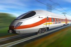 υψηλό σύγχρονο τραίνο ταχύ&ta Στοκ Φωτογραφίες