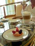 υψηλό τσάι καφέ κέικ του Μπρ Στοκ Φωτογραφίες