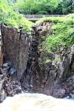 Υψηλό φαράγγι πτώσεων, Wilmington, Νέα Υόρκη, Ηνωμένες Πολιτείες Στοκ εικόνες με δικαίωμα ελεύθερης χρήσης