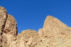Υψηλά ατλάντων βουνά βράχου ερήμων κόκκινα Στοκ Εικόνες