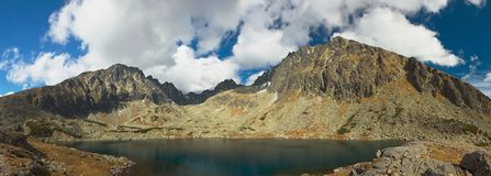 Υψηλά βουνά σλοβάκικα Tatry Στοκ Φωτογραφίες
