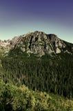 Υψηλά Tatras - Vysoke Tatry - τρόπος σε Popradske Pleso Στοκ φωτογραφίες με δικαίωμα ελεύθερης χρήσης