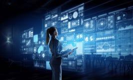Υψηλές τεχνολογίες για την επιτυχία σας Μικτά μέσα Στοκ εικόνες με δικαίωμα ελεύθερης χρήσης