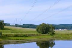 Υψηλής ισχύος γραμμές μετάδοσης Στοκ Εικόνες
