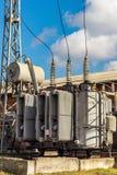 Υψηλής τάσεως ηλεκτρικός εξοπλισμός Στοκ Εικόνες