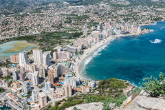 Υψηλή άποψη γωνίας της μαρίνας Calpe, Αλικάντε, Ισπανία στοκ φωτογραφίες