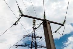 Υψηλή αντίσταση στα ηλεκτρικά δίκτυα Στοκ φωτογραφίες με δικαίωμα ελεύθερης χρήσης