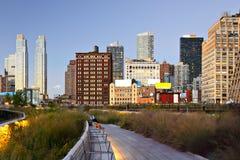 Υψηλή γραμμή πόλεων της Νέας Υόρκης Στοκ Εικόνες