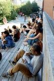Υψηλή γραμμή πόλη Νέα Υόρκη Ανυψωμένο για τους πεζούς πάρκο Στοκ Εικόνες