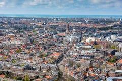 Υψηλή πανοραμική άποψη γωνίας της Χάγης Χάγη Στοκ Εικόνες
