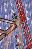 Υψηλή πόλη της Νέας Υόρκης κατασκευής ανόδου Στοκ εικόνες με δικαίωμα ελεύθερης χρήσης