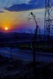 Υψηλή σκηνή ηλιοβασιλέματος τοπίων αντίθεσης Στοκ φωτογραφία με δικαίωμα ελεύθερης χρήσης