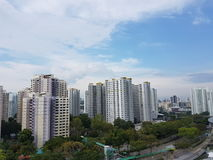 Υψηλή στέγαση κοινής ωφελείας ανόδου σε Bukit Panjang, Σιγκαπούρη Στοκ Εικόνες