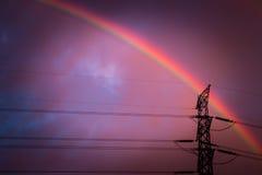 Υψηλή τάση στο ηλιοβασίλεμα Στοκ εικόνες με δικαίωμα ελεύθερης χρήσης