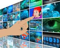 Υψηλή τεχνολογία τοίχων Στοκ εικόνες με δικαίωμα ελεύθερης χρήσης