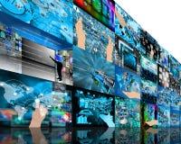 Υψηλή τεχνολογία τοίχων Στοκ Φωτογραφία