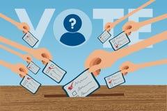 υψηλή ψηφοφορία διάλυσης ποντικιών εικόνας αξιολόγησης έννοιας βελών Στοκ Εικόνες