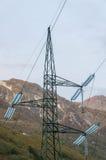 υψηλή pylon τάση ισχύος γραμμών Στοκ φωτογραφία με δικαίωμα ελεύθερης χρήσης