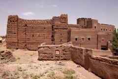 Υψηλοί τοίχοι kasbah, Μαρόκο Στοκ εικόνα με δικαίωμα ελεύθερης χρήσης