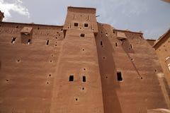 Υψηλοί τοίχοι kasbah, Μαρόκο Στοκ Φωτογραφίες