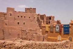 Υψηλοί τοίχοι kasbah, Μαρόκο Στοκ φωτογραφίες με δικαίωμα ελεύθερης χρήσης