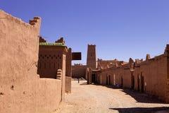 Υψηλοί τοίχοι kasbah, Μαρόκο Στοκ Εικόνες