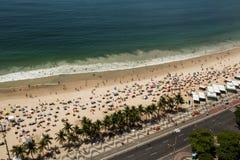Υψηλού επιπέδου άποψη σχετικά με την παραλία Copacabana Στοκ φωτογραφία με δικαίωμα ελεύθερης χρήσης