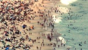 Υψηλού επιπέδου άποψη σχετικά με την παραλία Copacabana Στοκ Εικόνα