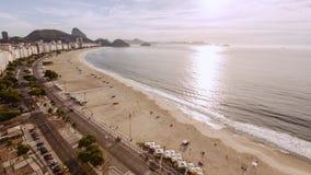 Υψηλού επιπέδου άποψη σχετικά με την παραλία Copacabana Στοκ Φωτογραφίες