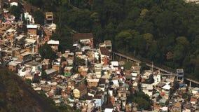 Υψηλού επιπέδου άποψη σχετικά με Favela Santa Marta Στοκ Εικόνες